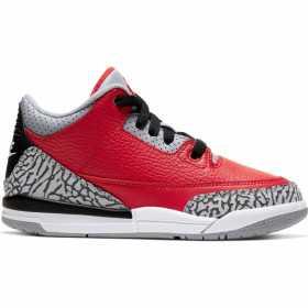 "Kid's Jordan 3 Retro ""Unite"" Fire Red (PS)"