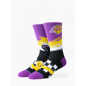 M548C19LAK_Chaussettes NBA Los Angeles Lakers Stance Wave Racer Violet