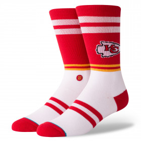 M558C18CHS_Chaussettes NFL Kensas City Chiefs Stance Logo Rouge