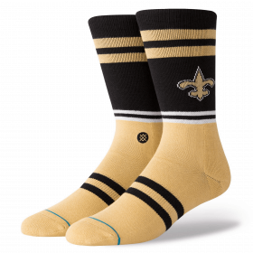 M558C18SAS_Chaussettes NFL New Orleans Saints Stance Logo Noir
