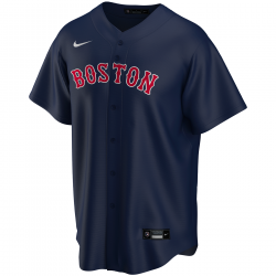 Men's Nike Replica Alternate MLB jersey Boston Red Sox Navy