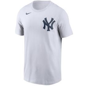 N19910ANKM3X_T-Shirt MLB New York Yankees Nike Wordmark Blanc pour Homme