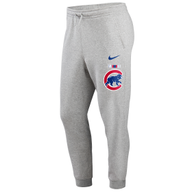 N80406GEJBSC_Pantalon MLB Chicago Cubs Nike Color Bar Club Fleece Gris pour homme