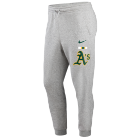 N80406GFZBSC_Pantalon MLB Oakland Athletics Nike Color Bar Club Fleece Gris pour homme
