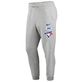 N80406GTORBSC_Pantalon MLB Toronto Blue Jays Nike Color Bar Club Fleece Gris pour homme