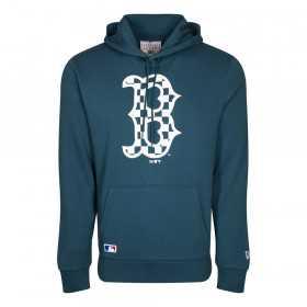 12195444_Sweat à Capuche MLB Boston Red Sox New Era Infill logo bleu pour Homme