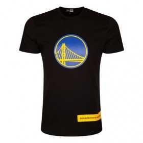 12195401_T-Shirt NBA Golden State Warriors New Era Block Wordmark Black pour Homme