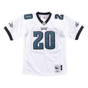 AJY6GS18467-PEAWHIT04BDA_Maillot NFL Brian Dawkins Philadelphia Eagles 2004 Mitchell & Ness authentic Blanc pour Homme