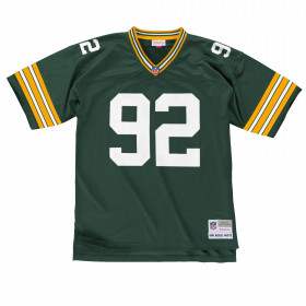 LGJYAC18033-GBPDKGN96RWH_Maillot NFL Reggie White Greenbay Packers 1996 Mitchell & Ness Legacy Retro Vert pour Homme
