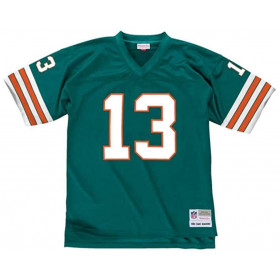 LGJYAC18037-MDOTEAL84DMA_Maillot NFL Dan Marino Miami Dolphins 1984 Mitchell & Ness Legacy Retro Vert pour Homme