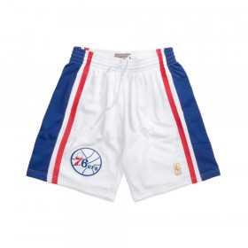 SMSHGS18246-P76WHIT96_Short NBA Philadelphia 76ers 1996 Mitchell & Ness Swingman Blanc pour Homme