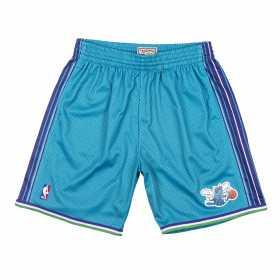 SMSHGS18491-CHOTEAL99_Short NBA Charlotte Hornets 1999-00 Mitchell & Ness Swingman Bleu pour Homme