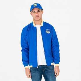 11604095_Bomber NBA Golden State Warriors New Era Team Apparel Varsity Bleu pour Homme