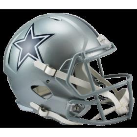 Casque de Football Americain NFL Dallas Cowboys Riddell Replica Gris