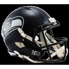 Casque de Football Americain NFL Seattle Seahawks Riddell Replica Bleu