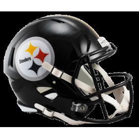 Casque de Football Americain NFL Pittsburgh Steelers Riddell Replica Noir