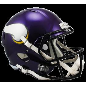 Casque de Football Americain NFL Minnesota Vikings Riddell Replica Bleu