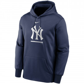 EZ3B7SAGW-NYY_Sweat à capuche MLB New York Yankees Nike Therma Fleece Bleu marine pour Junior