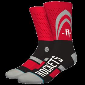 M545C19ROC_Chaussettes NBA Houston Rockets Stance Arena Short Cut Rouge