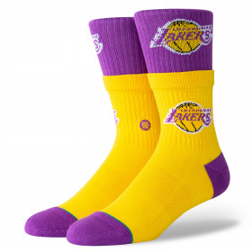 M556C19LAL_Chaussettes NBA Los Angeles Lakers Stance Double double Jaune