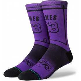 M558C18LBJ_Chaussettes NBA Los Angeles Lakers Stance LBJ2 Violet