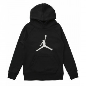 956326-023_Sweat à capuche Jordan Jumpman Logo Fleece Noir pour Junior