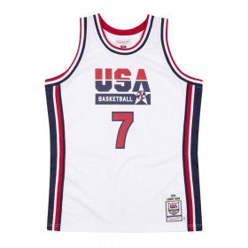 Maillot NBA Larry Bird Team USA 1992 Mitchell & ness Authentique Blanc