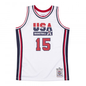 Maillot NBA Magic Johnson Team USA 1992 Mitchell & ness Authentique Blanc