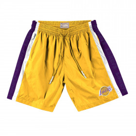 Short NBA Mitchell & Ness Packable Nylon Los Angeles Lakers amarillo
