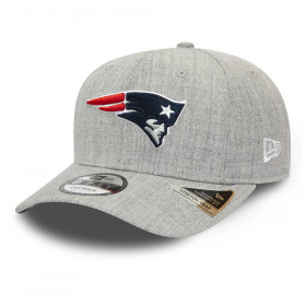 12285447_Casquette NFL New England Patriots New Era Heather Base 9Fifty Gris
