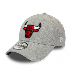 12285459_Casquette NBA Chicago Bulls New Era Heather 39thirty Gris