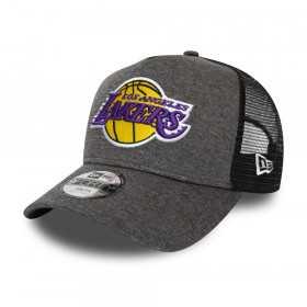 Kid's New Era Shadow Tech Trucker hat NBA Los Angeles Lakers grey
