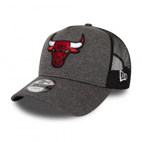 12301131_Casquette NBA Chicago Bulls New Era Shadow Tech Trucker gris pour Enfant