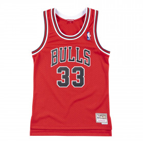 Maillot NBA Scottie Pippen Chicago Bulls Hardwood Classics Mitchell & ness Rouge pour femme