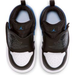 Chaussure de Basket Air Jordan 1 Mid SKY TD Bleu wht pour bébé
