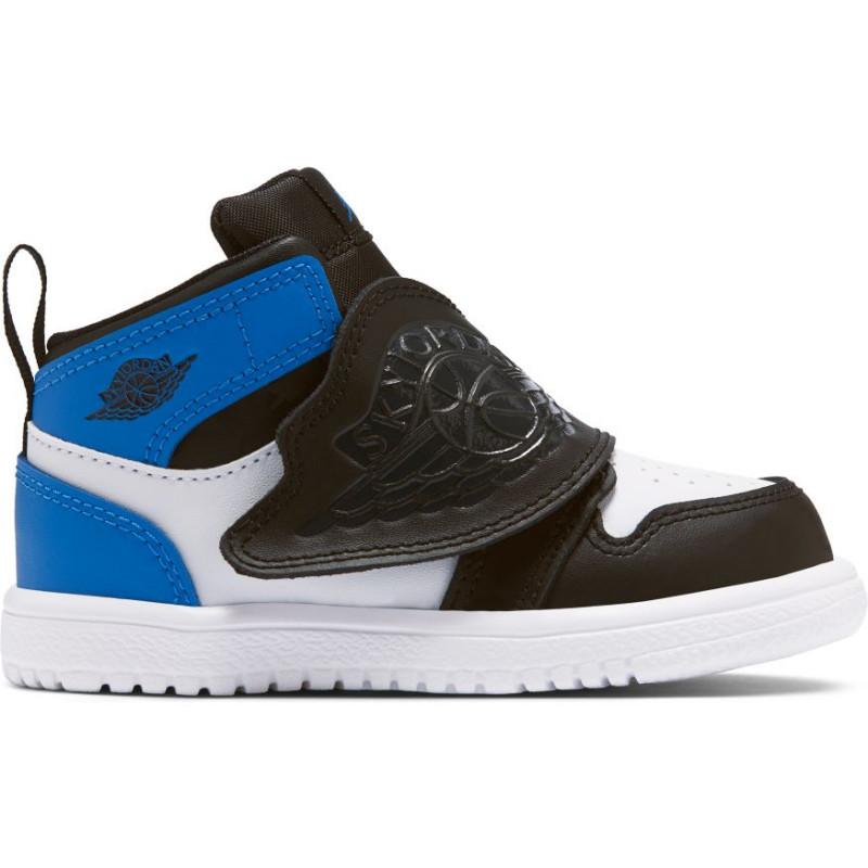 BQ7196-115_Chaussure de Basket Air Jordan 1 Mid SKY TD Bleu wht pour bébé
