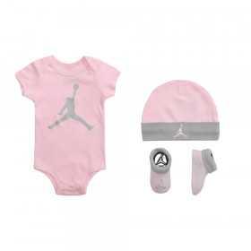 set Body chausson et bonnet Jordan Aj Classic Blanc Pk pour bébé