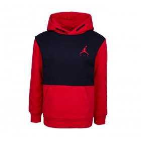 957610-KR5_Sweat à capuche Jordan Jumpman Air Fleece rouge pour Junior
