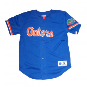 Maillot de Baseball NCAA Florida Gators Mitchell & ness Mesh Bleu pour Homme