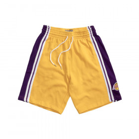 Short NBA Los Angeles Lakers Mitchell & Ness French Terry Jaune pour Homme