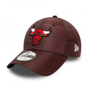 12490000_Casquette NBA Chicago Bulls New Era Team Ripstop 9Forty Rouge bordeaux