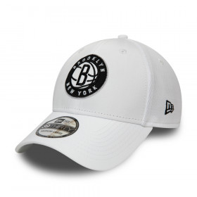 12490129_Casquette NBA Brooklyn nets New Era Dashback 39Thirty Blanc