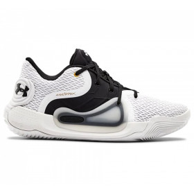 3022626-100_Chaussure de Basketball Under Armour Spawn 2 Low Blanc