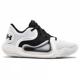 Zapatos de baloncesto Under Armour Spawn 2 Low blanco