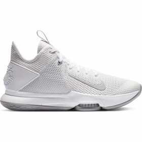 CV4004-100_Chaussure de Basketball Nike LeBron Witness 4 Blanc pour homme