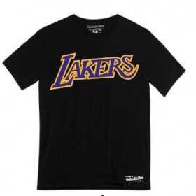 Men's Mitchell & ness Team Wordmark NBA Los Angeles Lakers Black