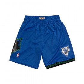 Short NBA Minnesota Timberwolves 2003-2004 Mitchell & Ness Swingman Bleu pour Homme