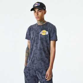12485740_T-Shirt NBA Los Angeles Lakers New Era Geometric Camo Gris Pour Homme