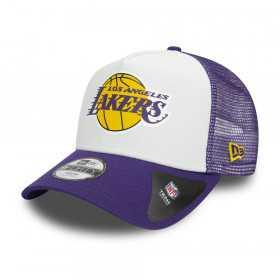 Casquette NBA Los Angeles Lakers New Era Team color block Trucker violette pour Enfant
