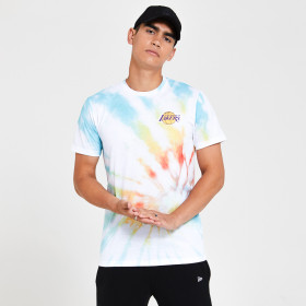 12369755_T-Shirt NBA Los Angeles Lakers New Era Tye Dye Blanc Pour Homme